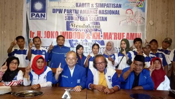Kader PAN Sumsel deklarasi dukung Jokowi-Ma'ruf Amin.