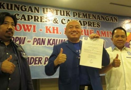 Ketua DPW PAN Kalimantan Selatan, Muhidin dukung Jokowi-Ma'ruf.