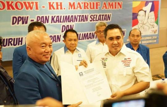 Dewan Pimpinan Wilayah (DPW) Partai Amanat Nasional (PAN) Kalimantan Selatan mendeklarasikan dukungan ke Jokowi-Ma'ruf Amin.