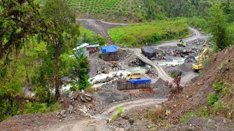 Jembatan Lokasi Penembakan Pekerja Trans Papua. (Istimewa/Ditjen Bina Marga Kementerian PUPR)