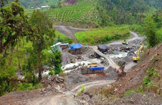 Di proyek jembatan ini para pekerja ditembak oleh Kelompok Kriminal Bersenjata (KKB). Istimewa/Ditjen Bina Marga Kementerian PUPR.