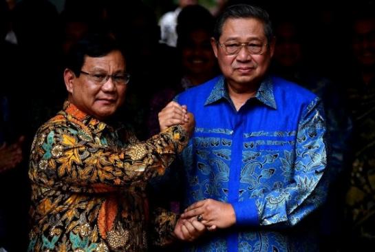Prabowo dan SBY.