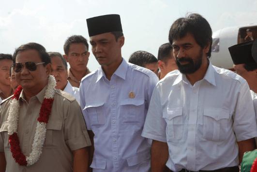 Prabowo Subianto saat di Aceh.