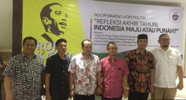 Diskusi Bertajuk 'Refleksi Akhir Tahun: Indonesia Maju Atau Punah?', di Kopi Politik, Kebayoran Baru, Jakarta, Kamis (27/12/2018).