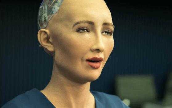 Ilustrasi robot manusia.
