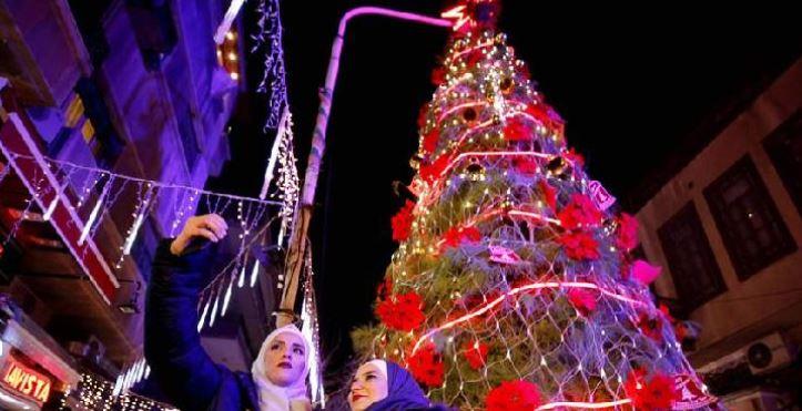 Warga Damaskus, Suriah menyambut Natal 2018.(THE BAGHDADPOST.COM)