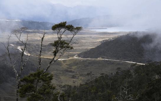 Pembangunan jalan Trans Papua.