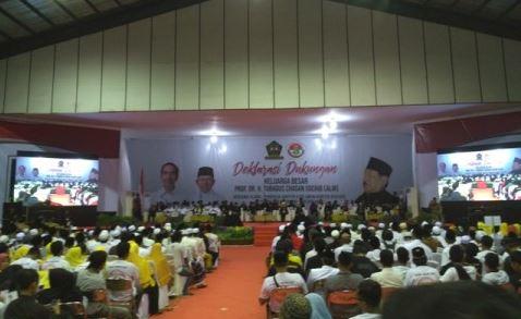 Deklarasi dukungan kepada Pasangan Capres Joko Widodo dan Cawapres Ma'aruf Amin di Banten.