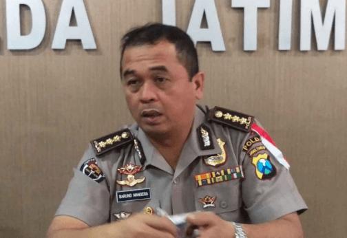 Kabid Humas Polda Jawa Timur , Kombes Pol Frans Barung Mangera.