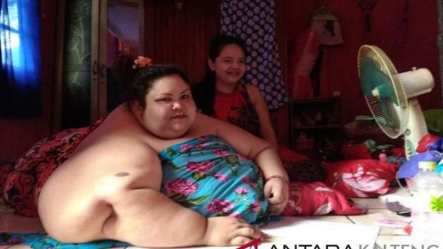 Wanita 350 kg. (foto:ANTARA)