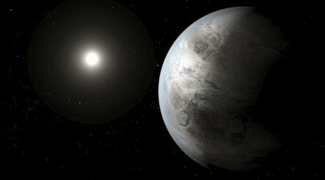 Ilustrasi planet misterius.