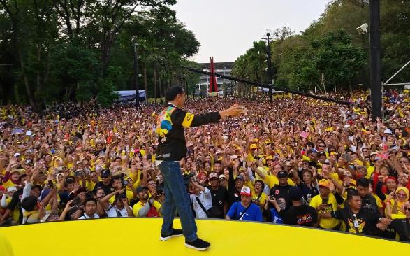 Jokowi saat hadiri deklarasi dukungan Alumni UI.