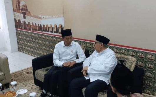 Presiden Jokowi dan Quraish Shihab.