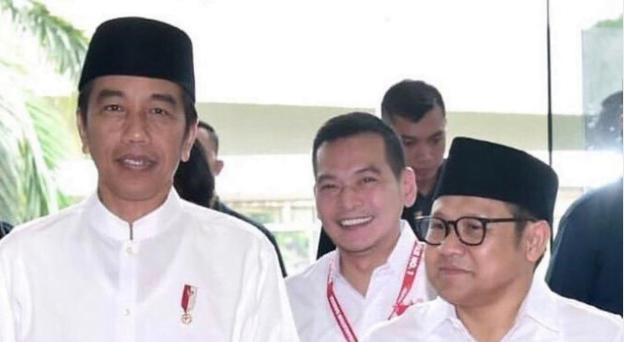 Jokowi-Cak Imin dan Daniel Johan (tengah). (Foto: dok Istimewa).