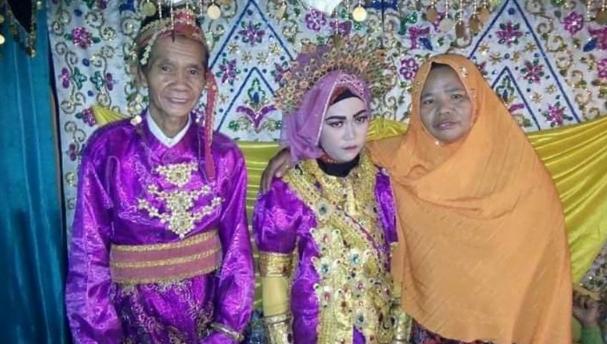 Foto: Pernikahan beda usia di Sinjai (ist.)