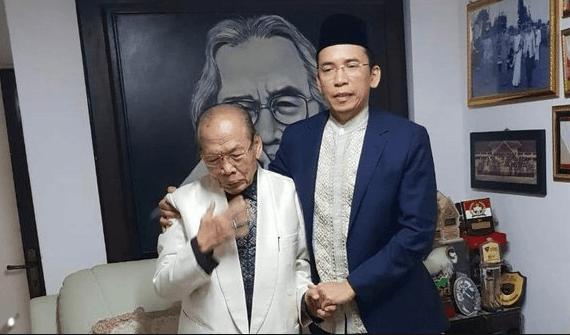 TGB saat silaturahmi di kediaman Prof Ahmad Mansyur Suryanegara, Kota Bandung, Sabtu (26/1).
