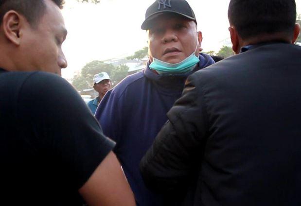 Wisnu Wardhana saat ditangkap. (Foto: Istimewa)