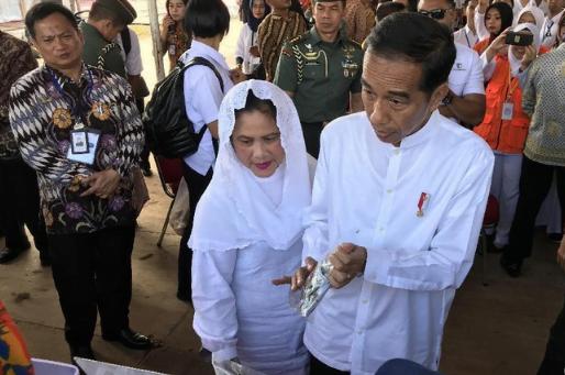 Presiden Jokowi di Magetan Jawa Timur.
