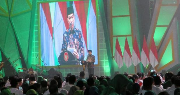 Presiden Joko Widodo (Jokowi) menghadiri perayaan hari ulang tahun ke-46 PPP.