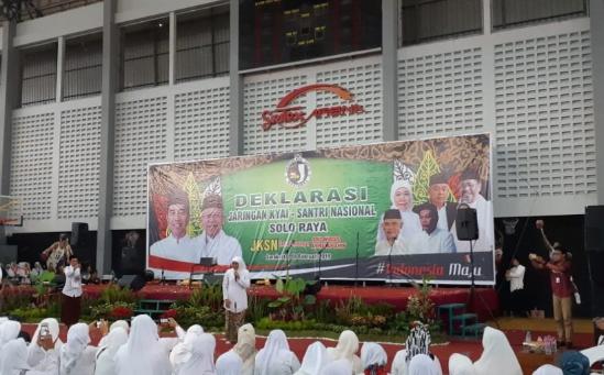 Khofifah saat hadiri deklarasi Jaringan Kiai-Santri Nasional (JKSN) Solo Raya.