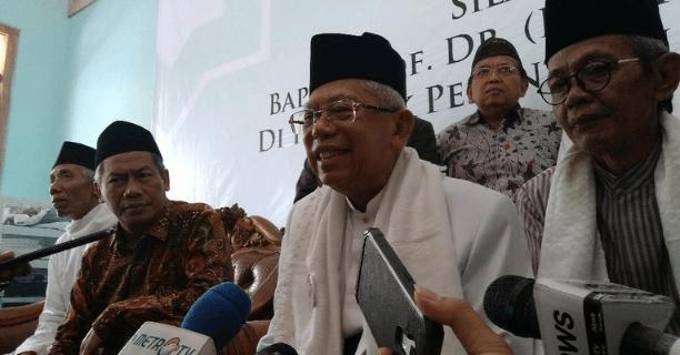 Ma'ruf Amin di Pondok Pesantren Al-Itqon Semarang.