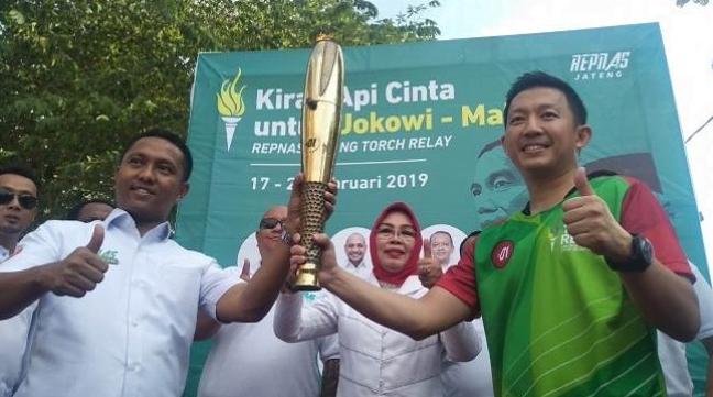 Api abadi untuk Jokowi.
