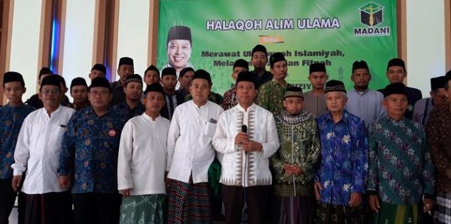Rommy dalam deklarasi Halaqah Alim Ulama di kompleks Pondok Pesantren Sunan Pandanaran, Sleman, Sabtu, (23/2/2019).