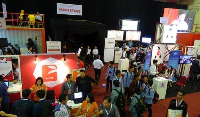 Ilustrasi konferensi startup.