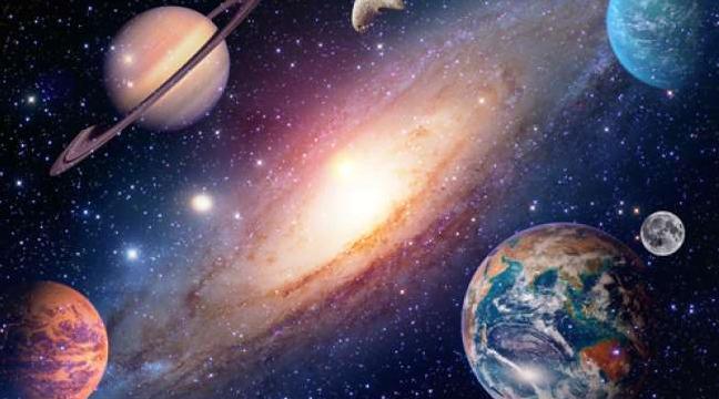 Ilustrasi Bumi dan planet-planet di sekitarnya (Shutterstock).