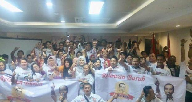 Relawan Buruh Sahabat Jokowi Deklarasikan Dukungan untuk Jokowi-Ma'ruf.