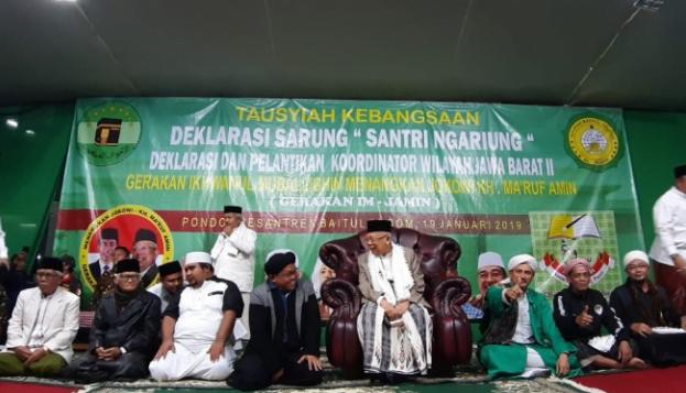 Deklarasi Da'i Bogor raya dukung Jokowi-Ma'ruf Amin.