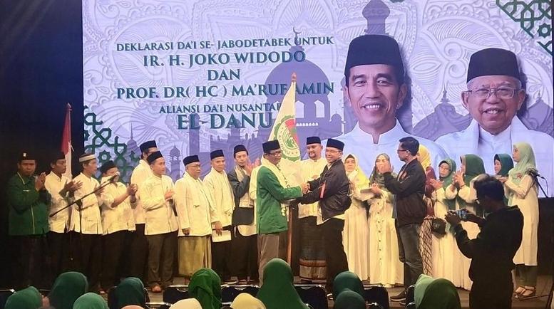 El-Danu mendeklarasikan dukungan untuk Jokowi-Ma'ruf.