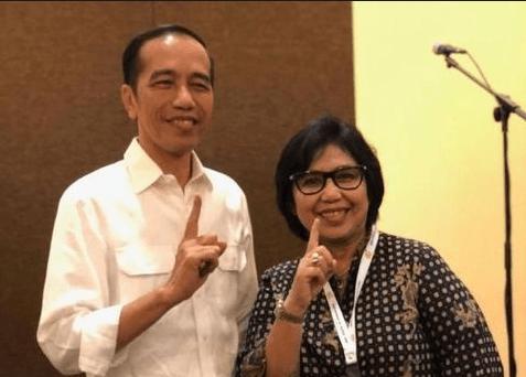 Jokowi dan Irma Suryani Chaniago.