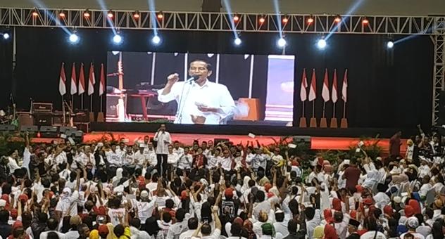Jokowi kampanye di Malang.