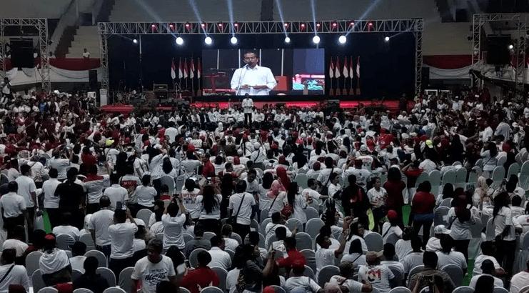 Jokowi saat kampanye di Malang.