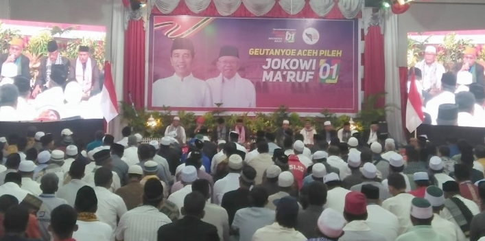 Jokowi kampanye di Lhokseumawe.