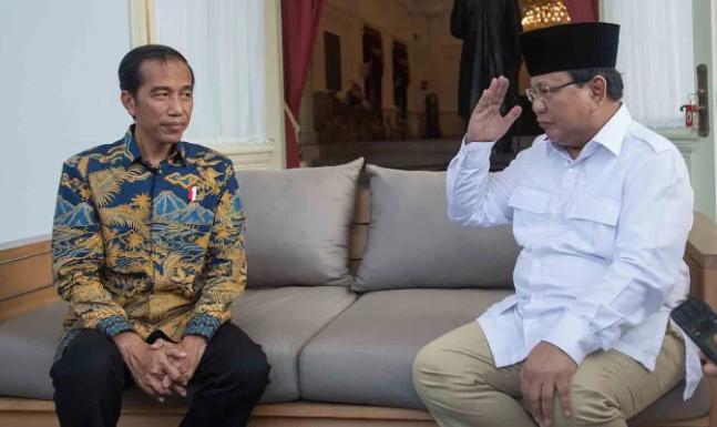 Jokowi dan Prabowo Subianto.