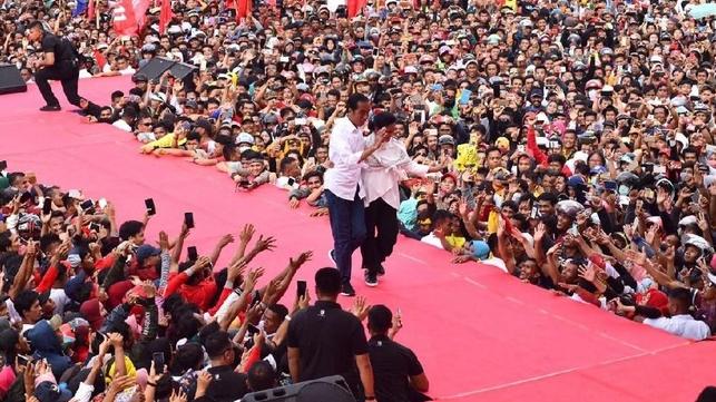 Suasana kampanye Jokowi.
