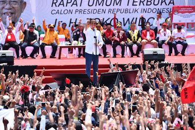 Jokowi saat kampanye di Pontianak.