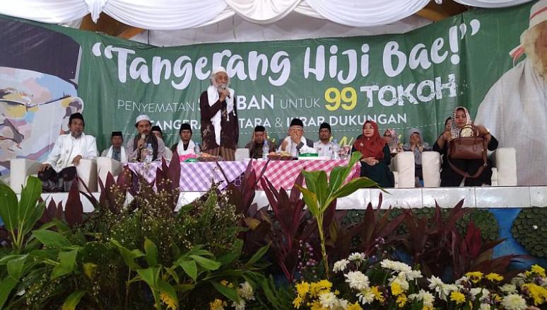 Para Kiai sepuh Banten yang berikan dukungan ke Jokowi-Ma'ruf Amin.
