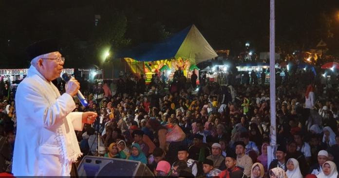KH Ma'ruf Amin saat kampanye di Yogyakarta.