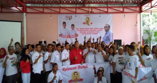 elawan Buruh Sahabat Jokowi (RBSJ) mengucapkan ikrar janji setia untuk terus bersama Presiden Joko Widodo.