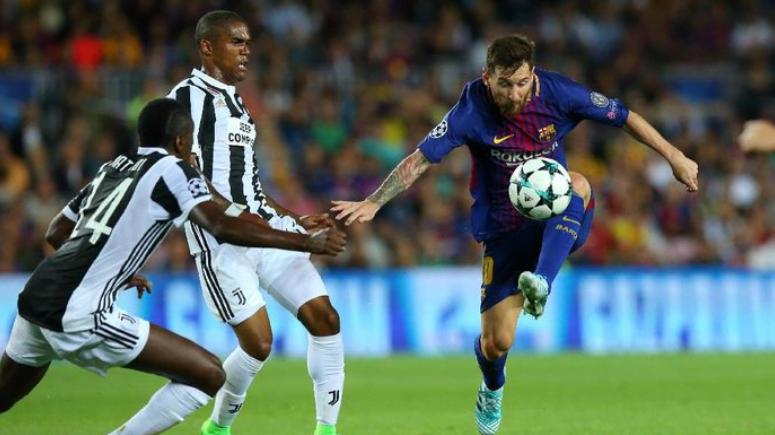 Aksi Lionel Messi saat Barcelona menghadapi Juventus.