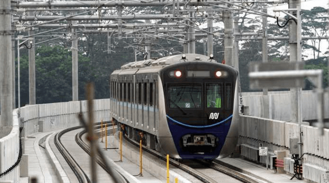 MRT di Jakarta.