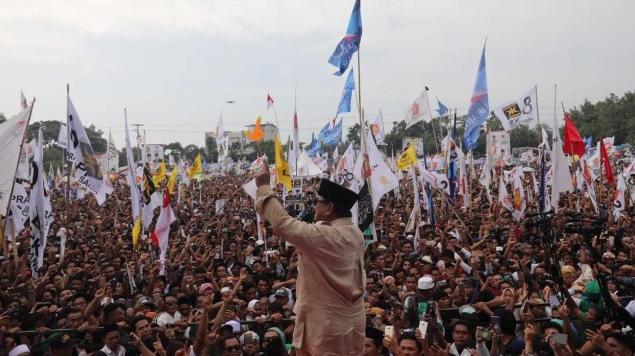 Prabowo Subianto berpidato di Nusa Tenggara Barat, (Dok. Timses Prabowo.