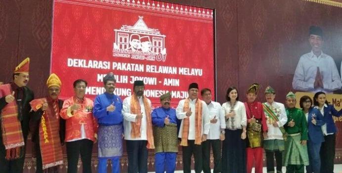 Surya Paloh saat hadiri deklarasi Pakatan Relawan Melayu di Palembang.
