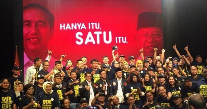 Alumnus Unas saat deklarasi dukung Jokowi-
