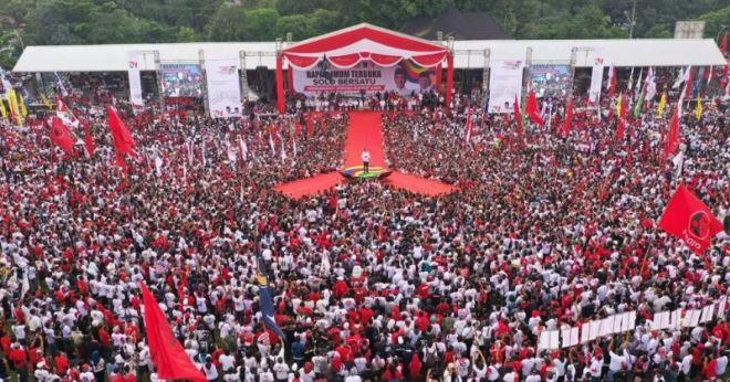 Jokowi saat kampanye di Solio.