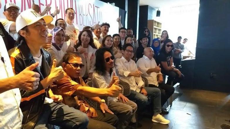 Para artis pendukung kampanye akbar Jokowi-Ma'ruf Amin.