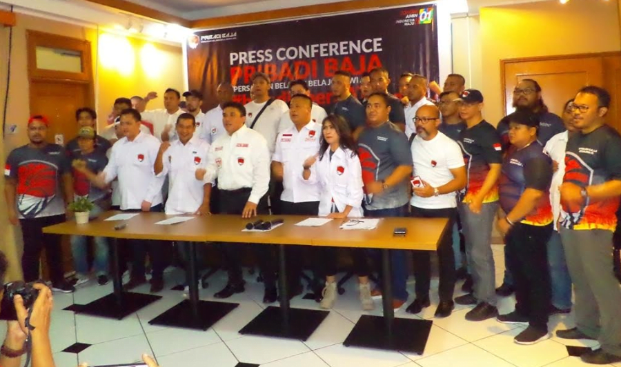 Pribadi Baja saat deklarasi dukung Jokowi-Ma'ruf Amin.